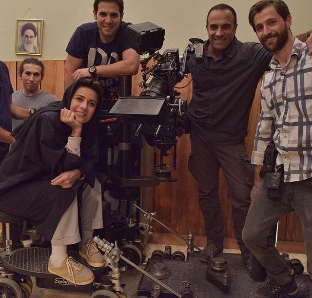حضور سارا بهرامی در پشت صحنه فیلم هزارپا