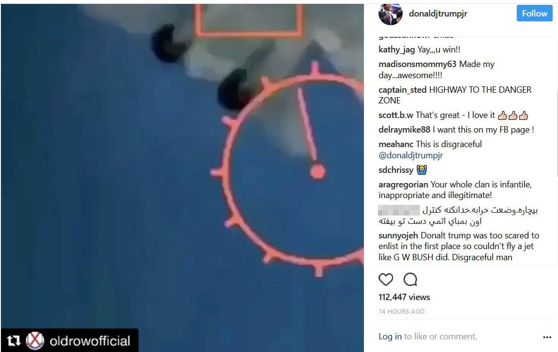 نوشته یک بازدید کننده ایرانی برای پسر ترامپ