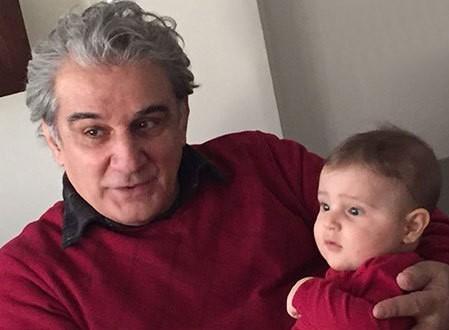 مهدی هاشمی و عضو جدید خانواده اش