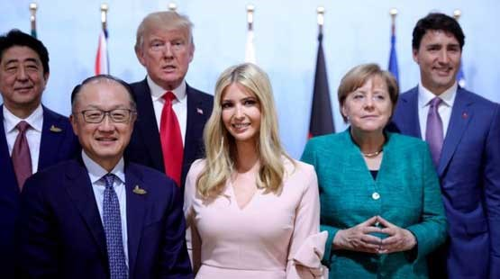 دختر رئیس جمهور آمریکا بر جایگاه پدر نشست