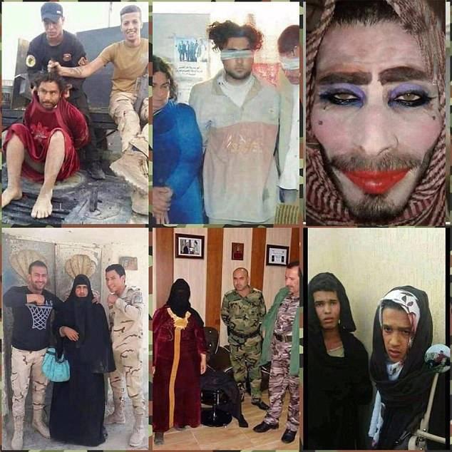 مردان داعشی با آرایش زنانه صورت
