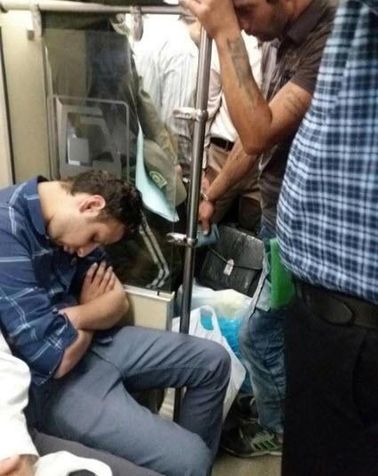 حضور یک متهم در مترو