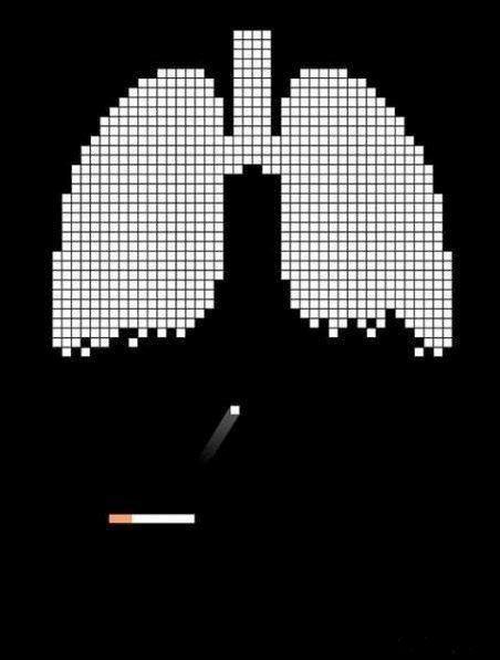 پوستر جالب از تاثیر سیگار بر ریه ها