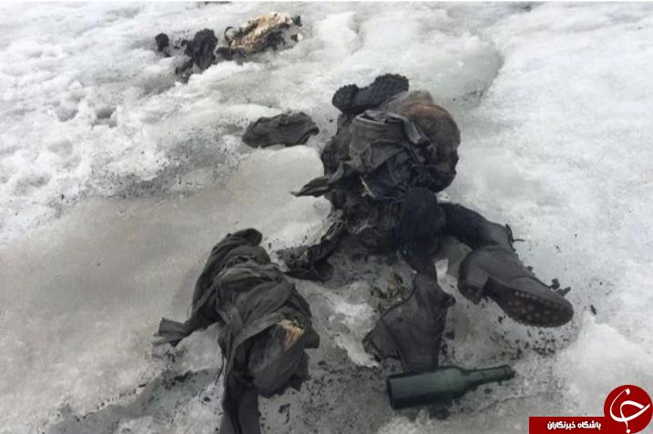 کشف دو کوهنورد در یخچال طبیعی