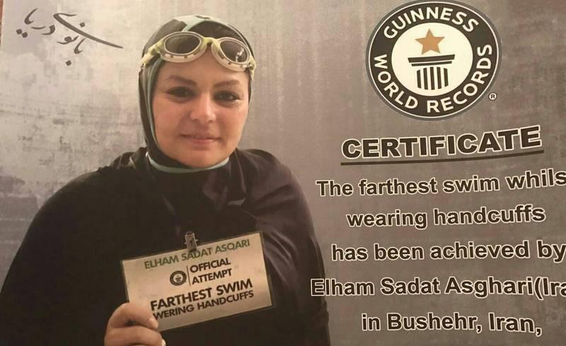 ثبت رکورد جهانی الهام سادات اصغری