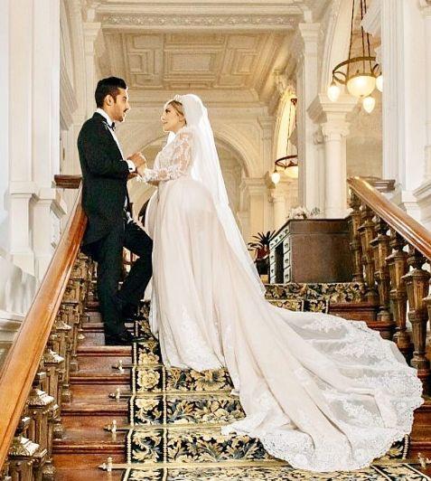 مراسم ازدواج رضا قوچان نژاد و همسرش