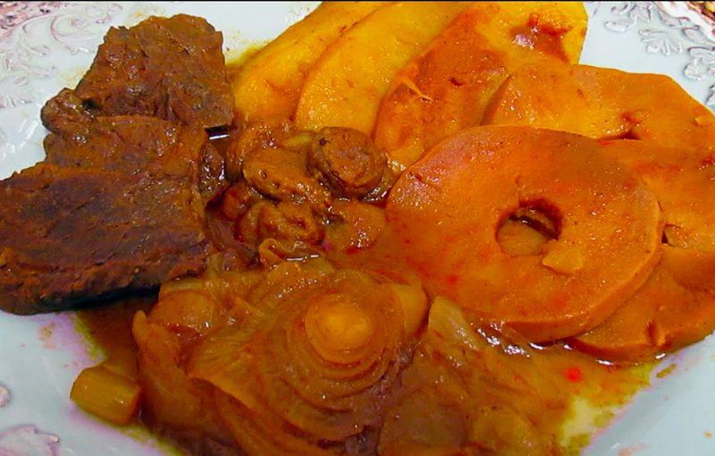تاس کباب با طعم به و هویج