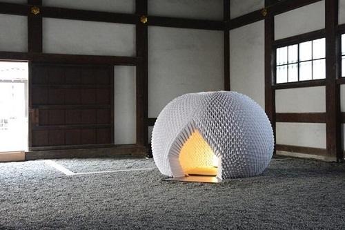 چایخانه به شکل اوریگامی در ژاپن