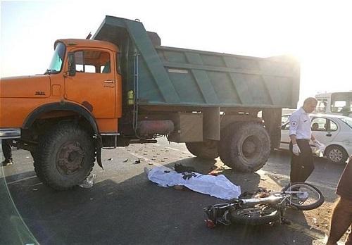 تصادف در جاده کمربندی تهران