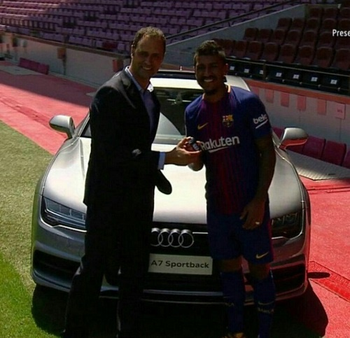 خودروی آئودی زیبا برای بازیکن بارسلونا