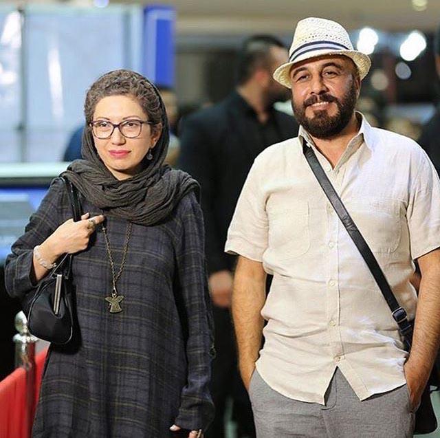 رضا عطاران در کنار همسرش
