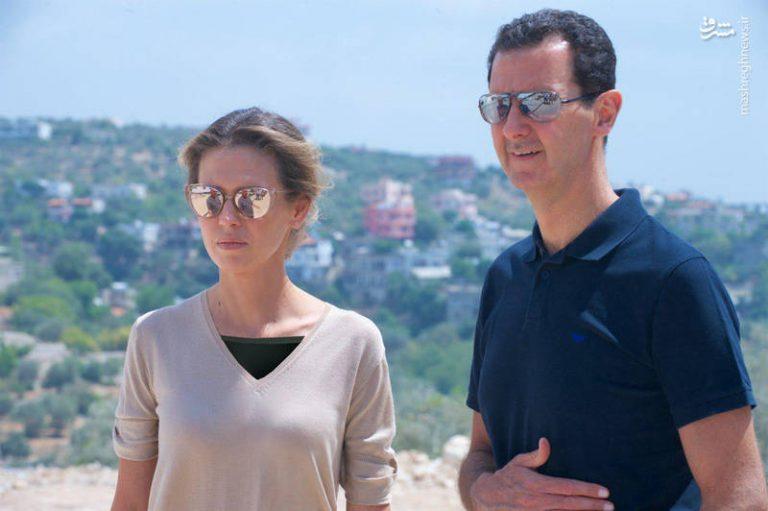 بشار اسد و همسرش جنوب غرب سوریه
