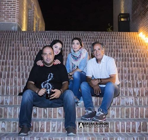 علی اوجی در کنار مجید مظفری