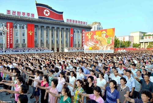 گردهمایی مردم کره شمالی