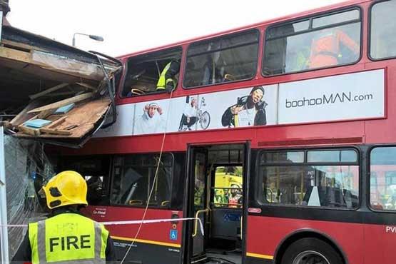حادثه برای اتوبوس دو طبقه