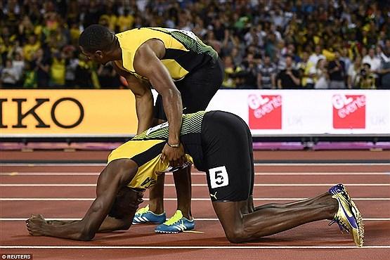 کشیدگی عضله سریعترین مرد جهان