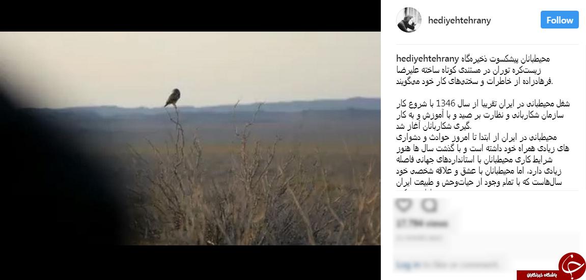 متن زیبای هدیه تهرانی برای محیط زیست