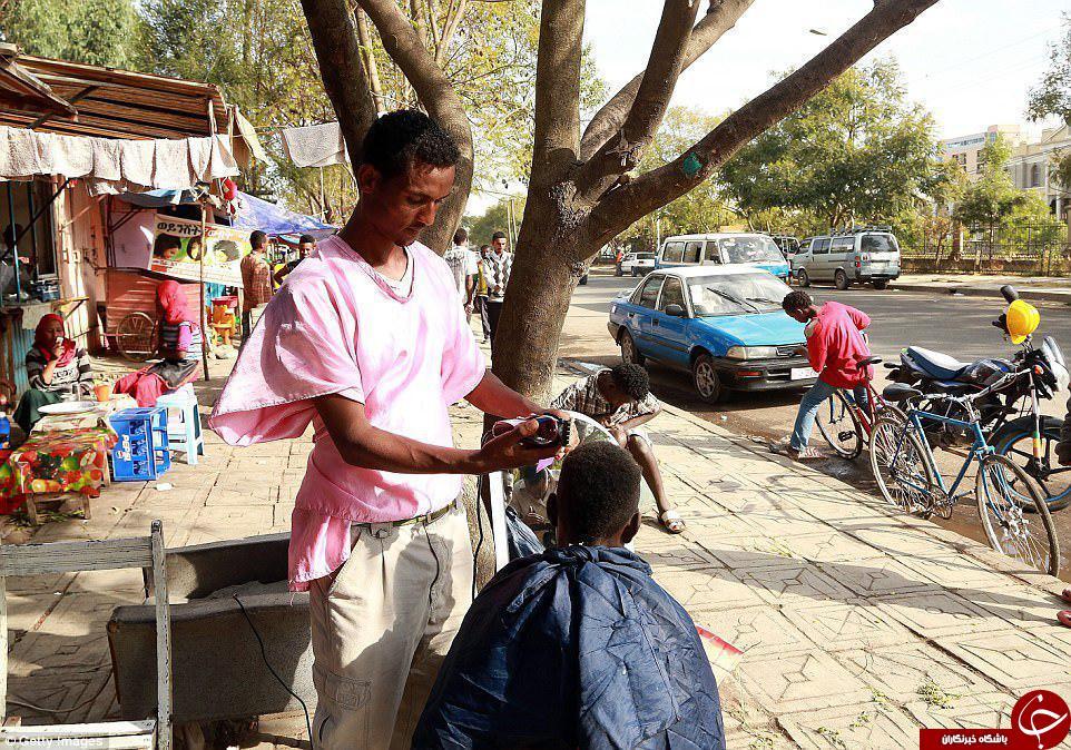 تصاویری جالب از آرایشگری سنتی