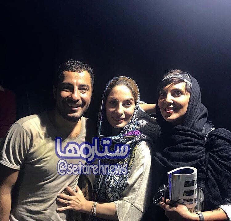 سلفی نوید محمدزاده در کنار بازیگر زن