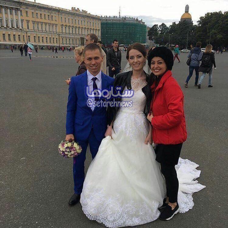 سلفی جالب نفیسه روشن در روسیه