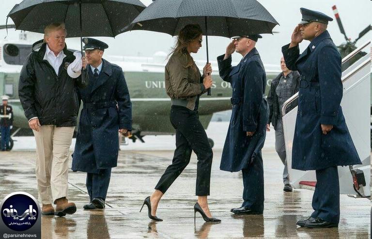 کفشهای همسر ترامپ سوژه شدند