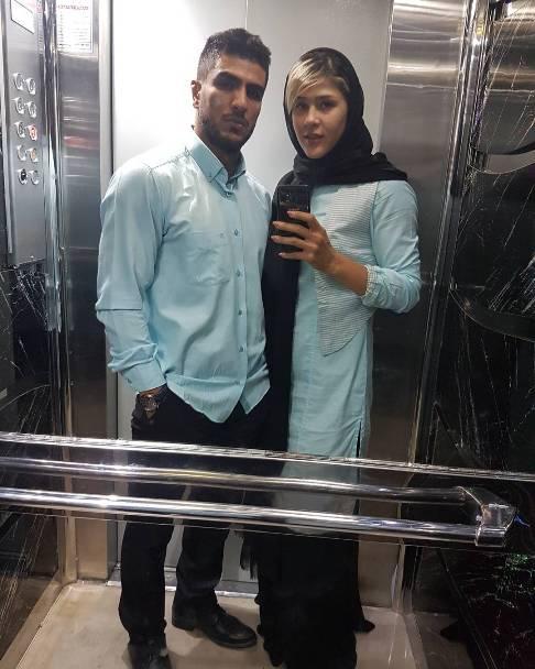 مهسا جاور ومحسن محمد سیفی زوج ورزشکار ایرانی