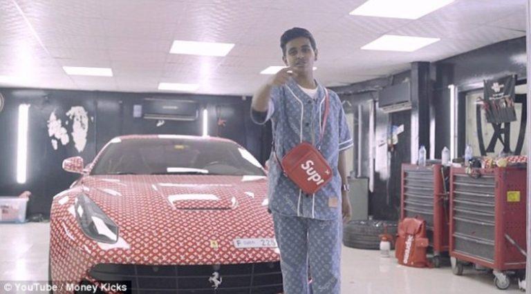 ماشین فراری پسربچه عرب