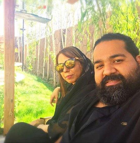 سلفی رضا صادقی با خواهرش