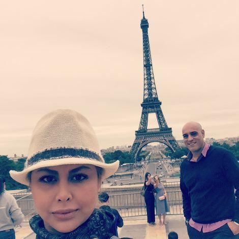 سفر امیریل ارجمند و همسرش به اروپا