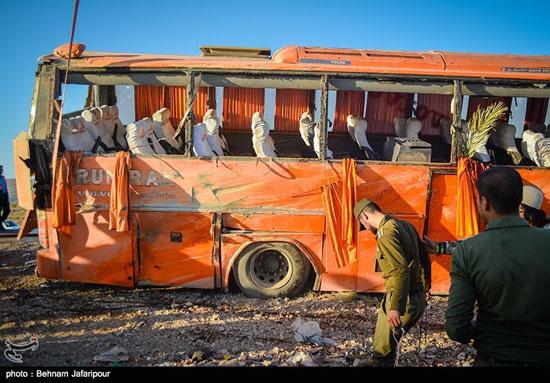 واژگونی اتوبوس دختران بندرعباسی