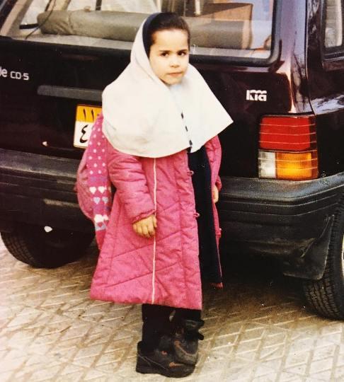 ملیکا شریفی نیا در دوران ابتدایی