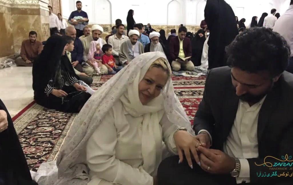 مراسم عقد بهاره رهنما و امیر خسرو عباسی در مکان مذهبی