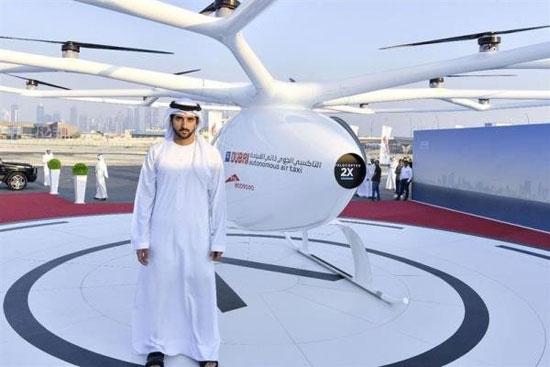 تاکسی پرنده در دبی رونمایی شد