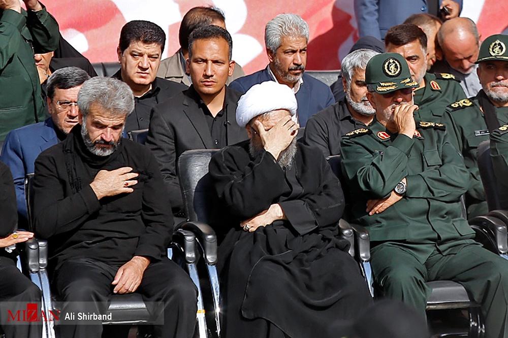 چهره های مشهور کشوری در مراسم شهید حججی