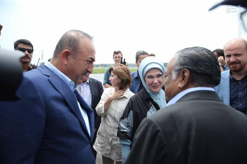 حضور همسر رئیس جمهور ترکیه در میانمار