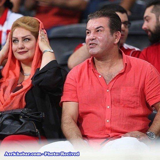 حمید استیلی در ورزشگاه الاهلی