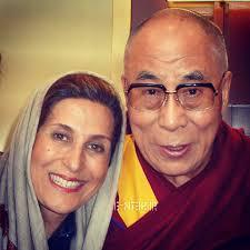 سلفی خبرساز با رهبر بودایی ها