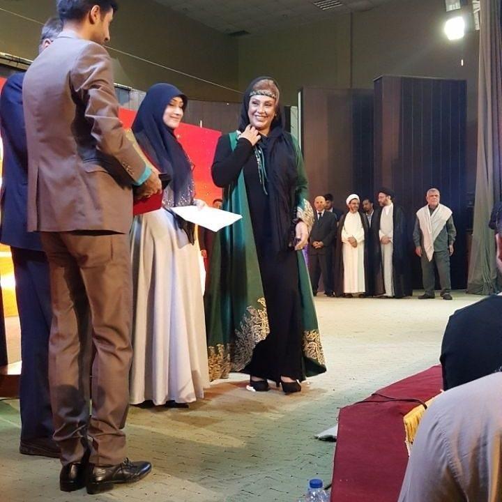 جشنواره ای در نجف با حضور بازیگر زن کشورمان