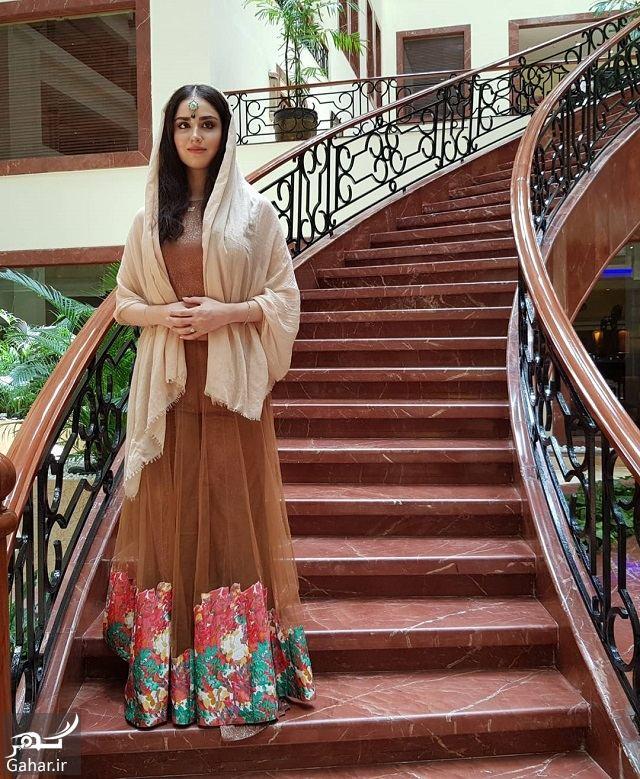 هانیه غلامی با لباس هندی
