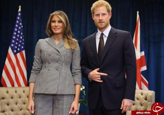 دیدار بانوی اول آمریکا با شاهزاده هری