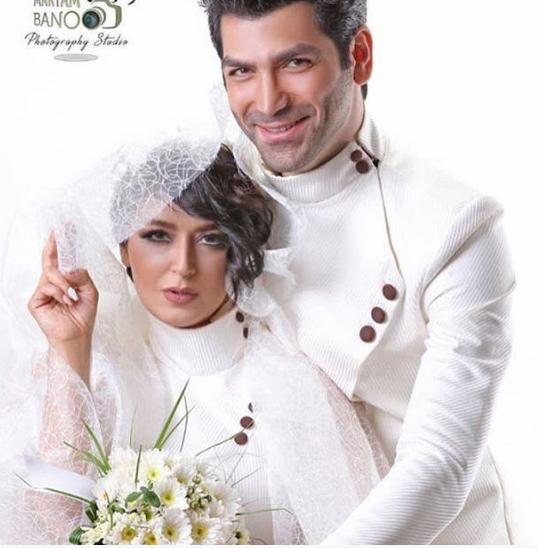 فریبا طالبی در کنار همسرش