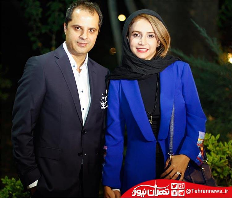 شبنم قلی خانی و همسرش در اکران یک فیلم جدید