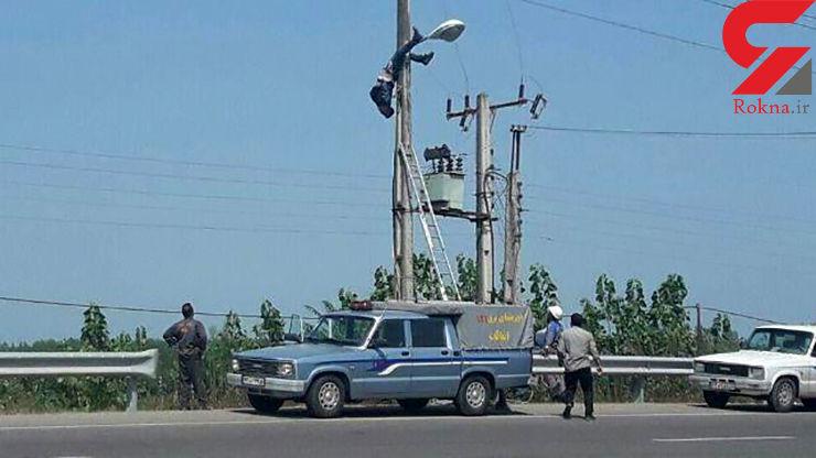 حادثه دلخراش برق گرفتگی برای مامور اداره برق