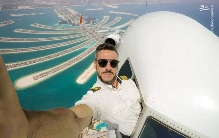 تصاویر فتوشاپی یک خلبان