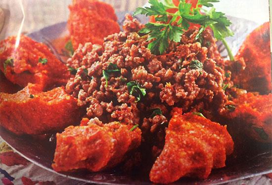 کباب عربی غذایی خوشمزه و لذیذ