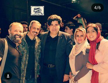لیلا بلوکات در کنار خواننده محبوب و همسرش