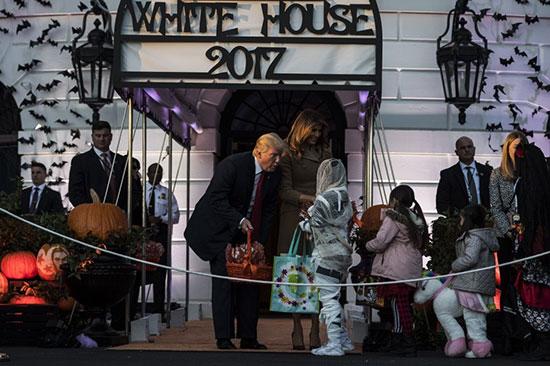 کودکان حاضر در جشن هالووین در کاخ سفید