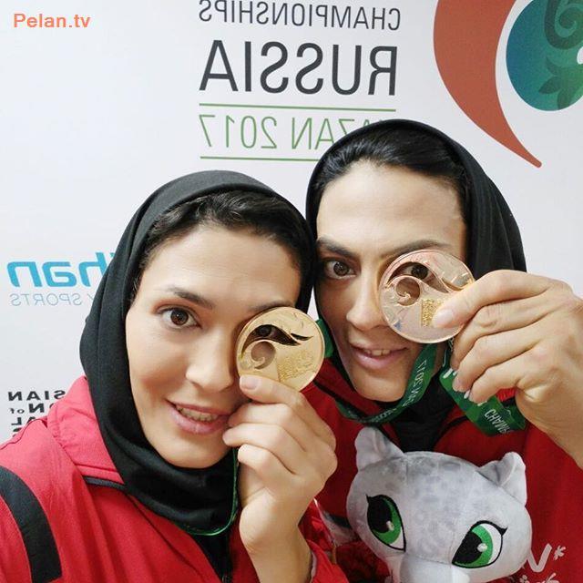 مدال طلای خواهران منصوریان