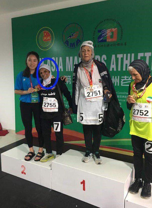 پیرزن مسن رکورددار مسابقات دو و میدانی زنان