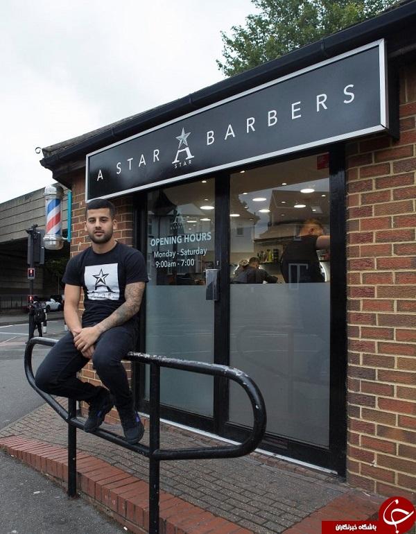 هنرنمایی آرایشگر محبوب فوتبالیست های پرطرفدار